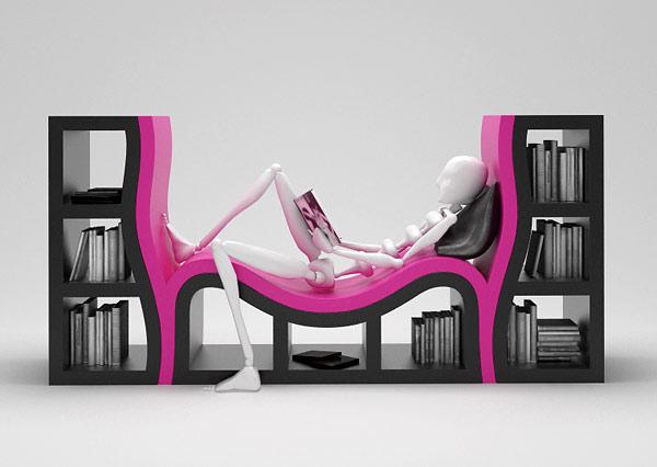 biblioteczka lezanka