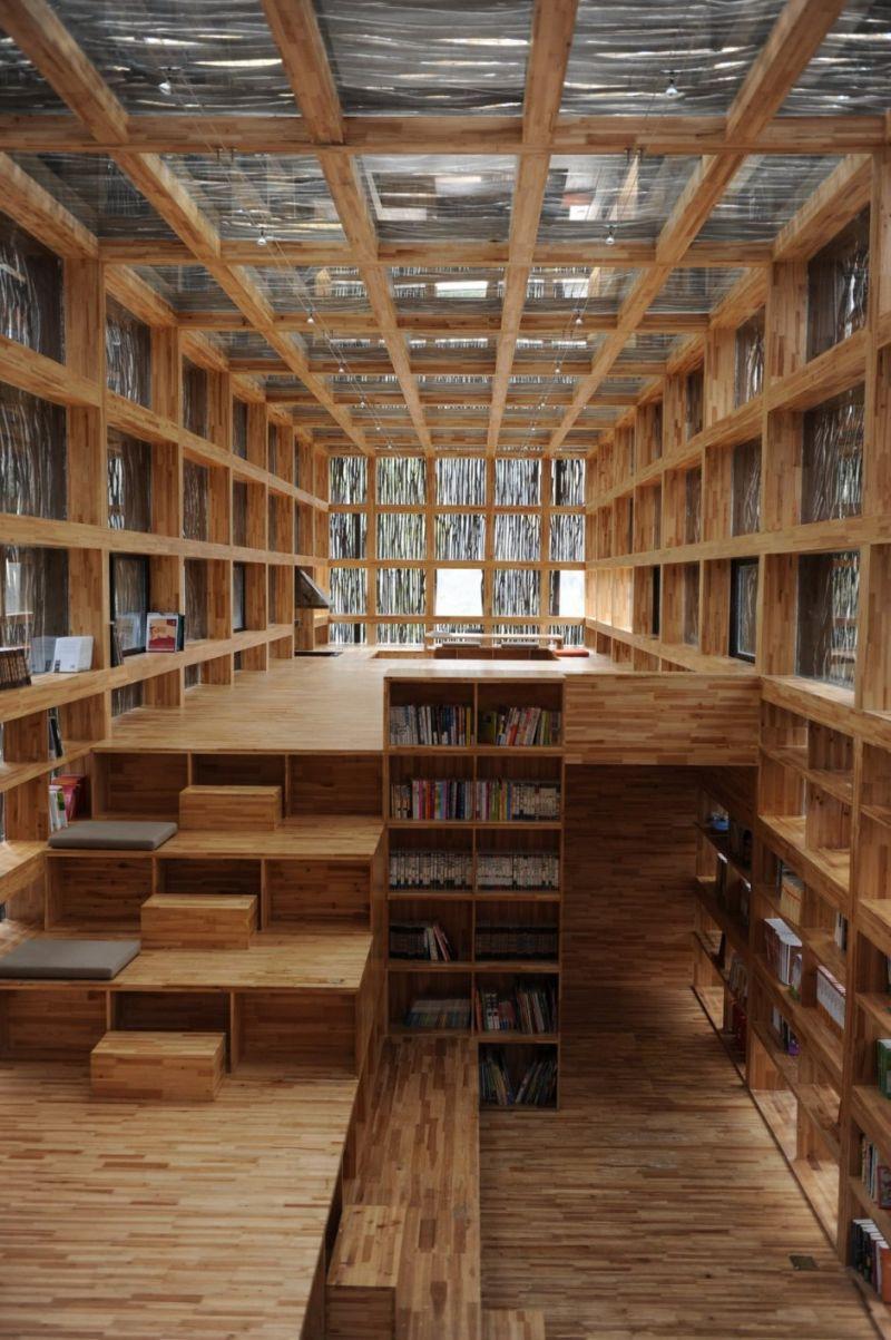nowoczesna biblioteka domowa biblioteczka 1
