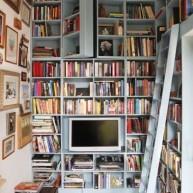 Biblioteczka w małym pokoju