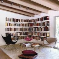 Półki - narożna biblioteczka