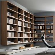 Nowoczesna biblioteczka - półki
