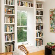 Biblioteczka w przesztrzeni ściany
