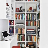 Biblioteczka w małym pomieszczeniu