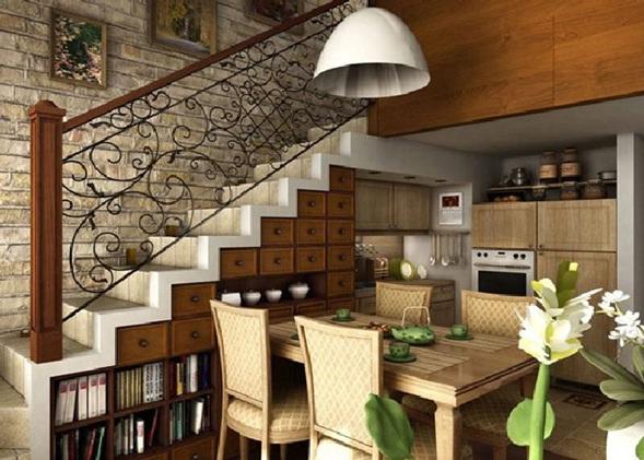 Zagospodaruj przestrze pod schodami 30 zaskakuj cych pomys w for Cantina debajo de las escaleras