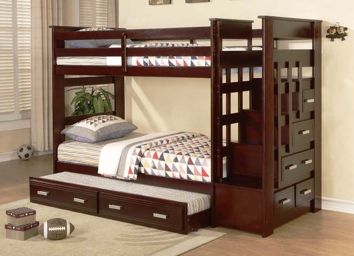 Twin Bunk Beds with Stairs 722 x 522