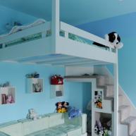 Dziecko ma mały pokój? Wygospodaruj mu łóżko na antresoli - zyskasz na przestrzeni do zabawy i nauki