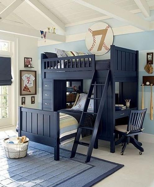 pokoik_niemowlaka_Elegancki zestaw piętrowych łóżek - poszukaj, kup, zaoszczędź miejsce!