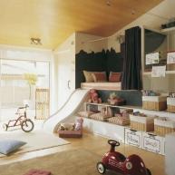Łóżeczko wbudowane w meble i zjeżdżalnia zamiast schodów - to, co dziecko będzie uwielbiać!