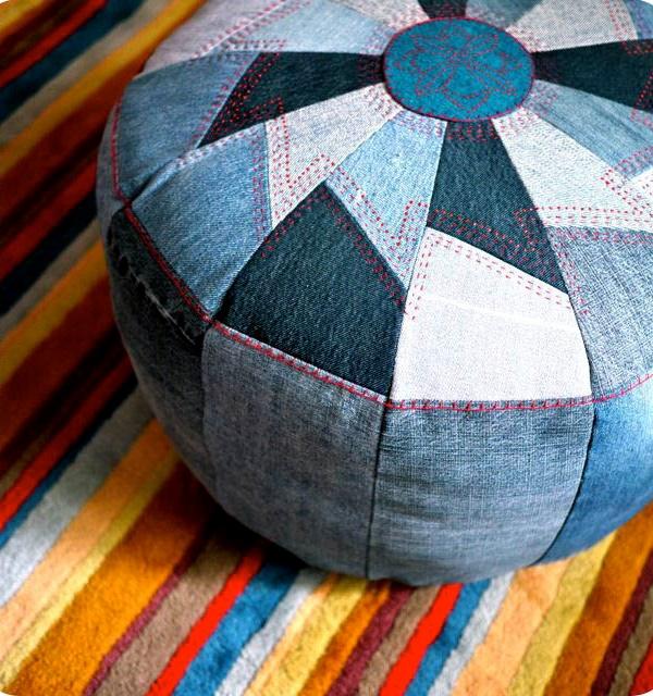Podejrzewam, by uszyć tą pufę potrzeba więcej niz dobrych chęci :P Jeśli podoba Ci się - poszukaj dobrego tapicera i pokaż mu to zdjęcie!
