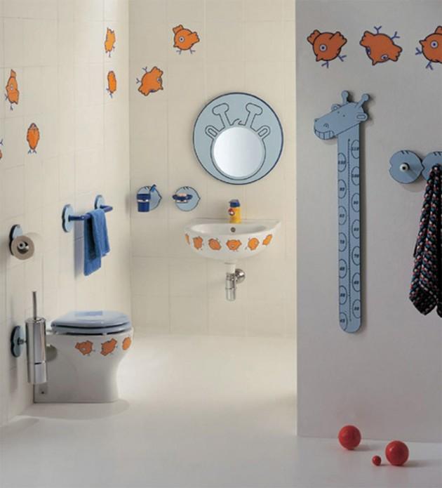 Ozdobne naklejki na sedesie, umywalce i ścianach łącza w całość wystrój pomieszczenia. Proste i nieinwazyjne