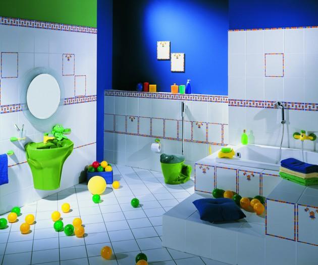 30 pomys w na azienk dla twojego dziecka architekt o for Fun kid bathroom ideas