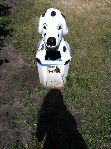 Miejsce na psią kupę - pojemniki w Szczecinie na osiedlu podmiejskim