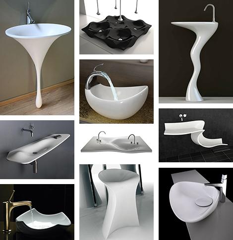 Niezwykłe umywalki i zlewy odzwierciedlają kreatywne podejście do nowoczesnego stylu - proste, eleganckie i współczesne.