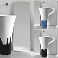 Bardzo ciekawy projekt umywalki podobnej do kubka - jest na co popatrzeć!