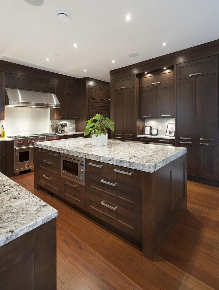 Piekna nowoczesna ciekawa kuchnia w domu mieszkaniu 34 for Kitchen ideas brown cabinets