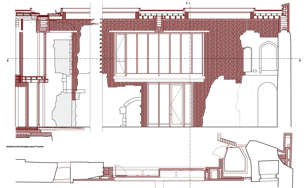 Astley_Castle_przebudowa_zamku_architektura_konserwacja_zabytkow_detal_przekroj