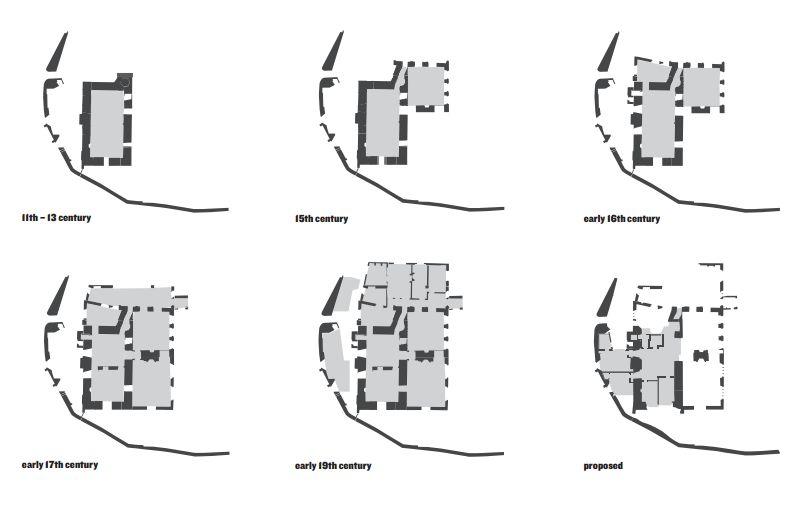 Astley_Castle_przebudowa_zamku_architektura_konserwacja_zabytkow_rzuty_historyczne_przebudowy