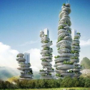 Asian Cairns - Farmscrapers, Projekt: Vincent Callebaut, Chiny