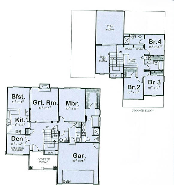 Katalog_Domów_Typowych_Dom w dawnym stylu - projekt 2 - rzuty.