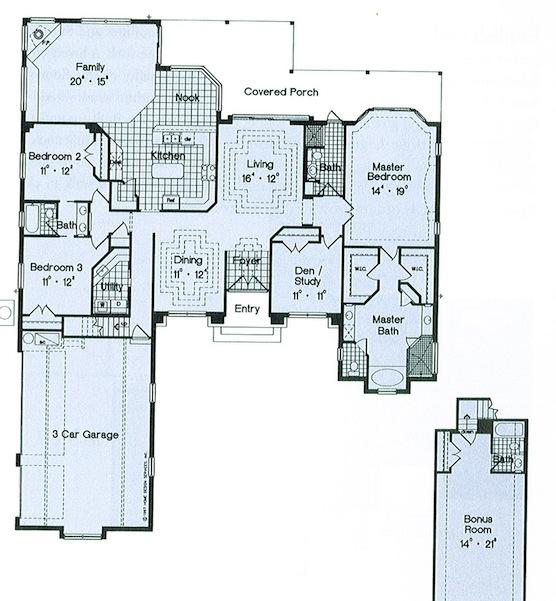 Katalog_Domów_Typowych_Dom w dawnym stylu - projekt 3 - rzut.