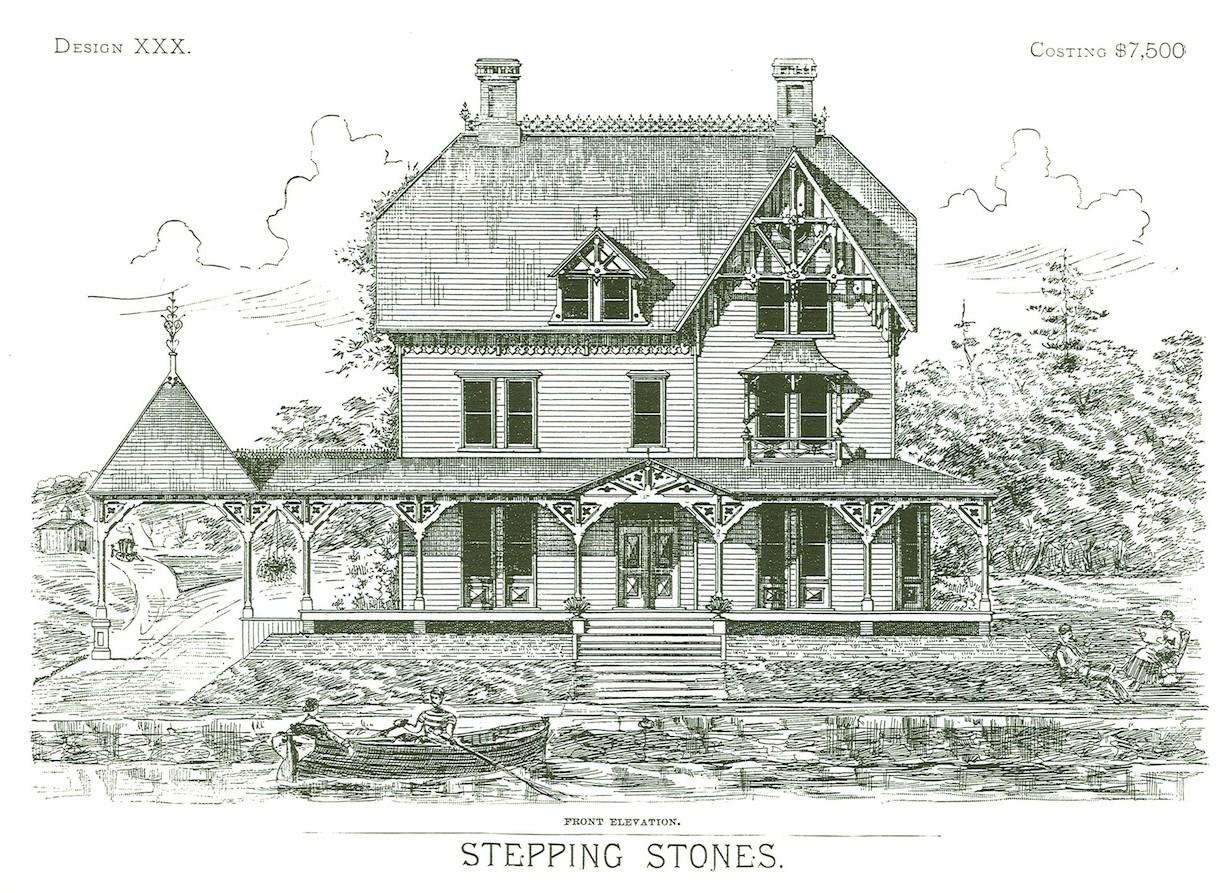 "Projekt domu ""Stepping Stones""."