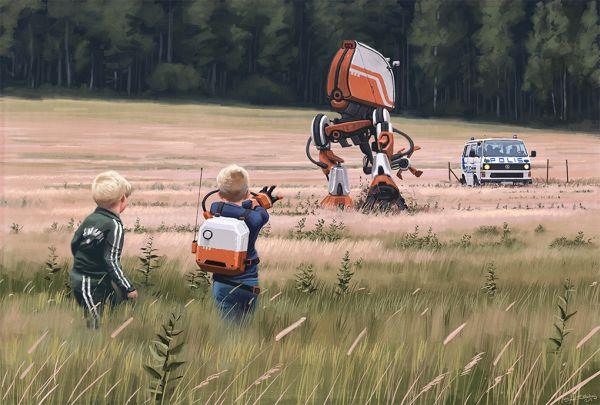 Roboty to zwykły widok na polu uprawnym.