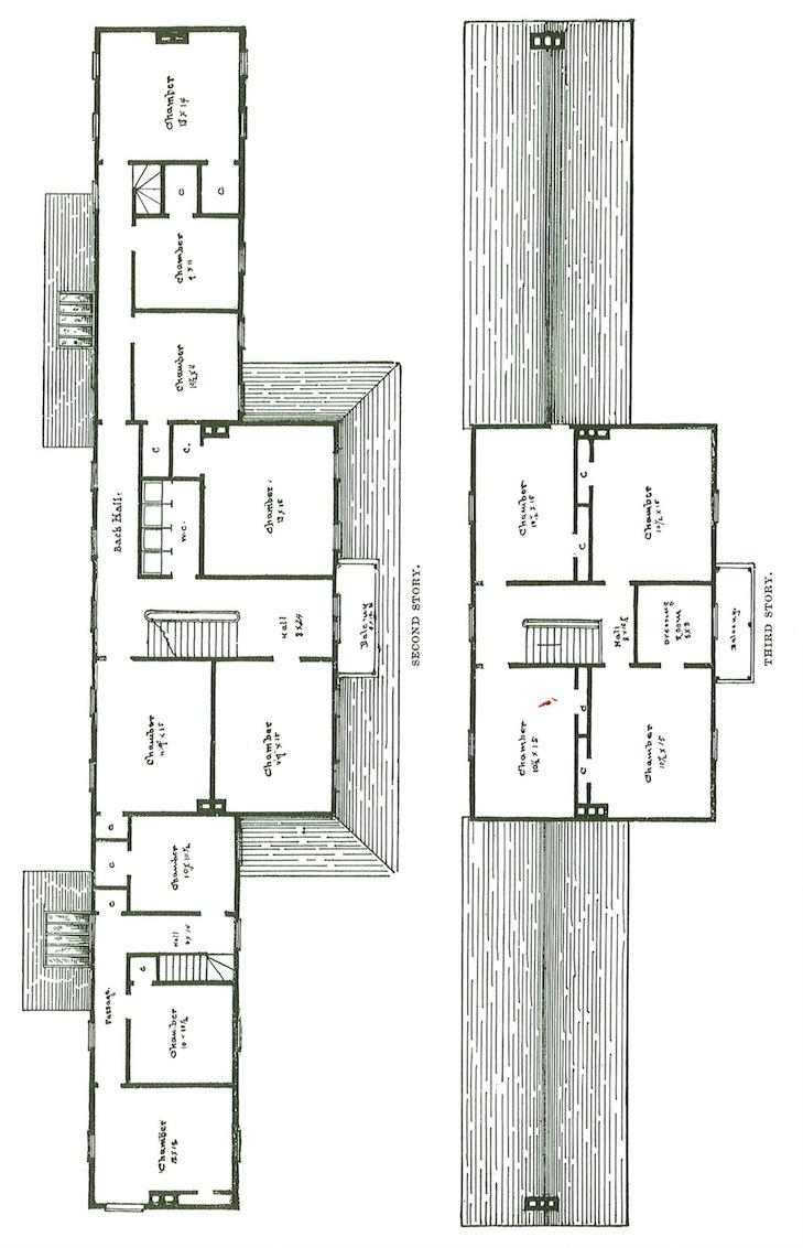 """""""Cascade"""" - rzuty na pierwsze i drugie piętro."""
