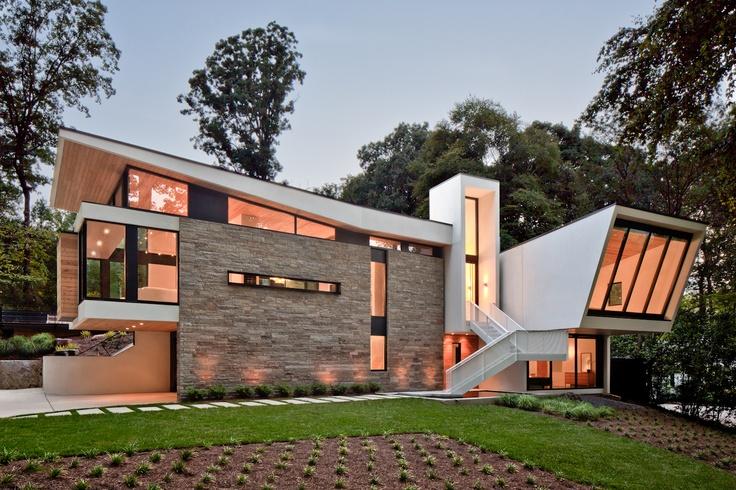 Nowoczesny modny dom z dachem dwuspadowym to mo liwe ep 1 Modern houses in atlanta