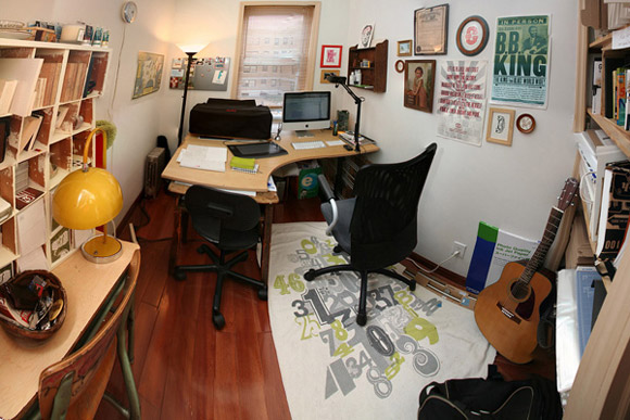 Creative Office of Live, Nowy York. Inspirujący gabinet, pełen artystycznego nieładu :)_nowoczesne_biuro_5