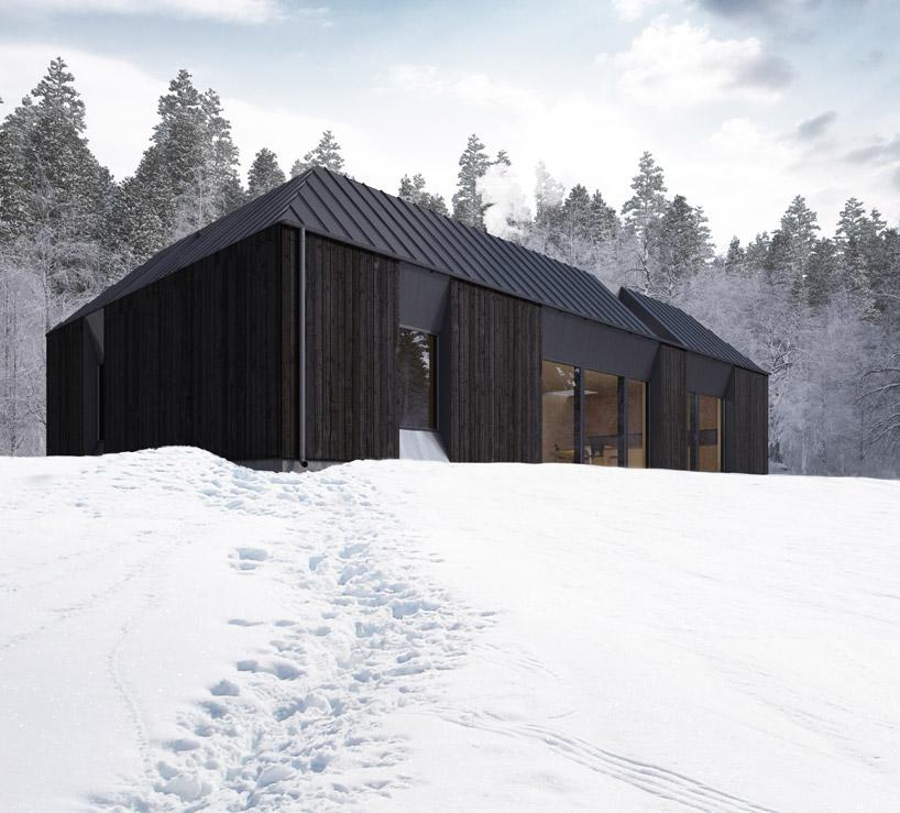 Projekt zawdzięcza swój charakterystyczny styl redukcji klasycznego dachu w kształcie wierzchołka.