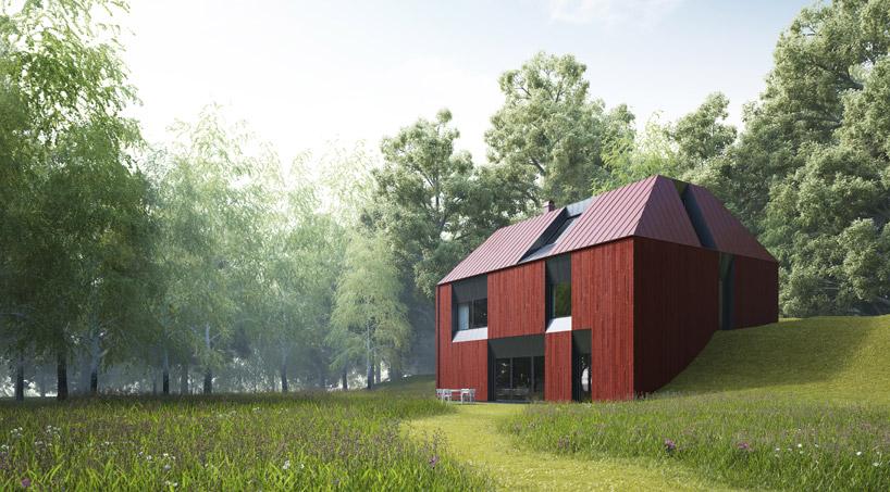 Projekt o innym kolorze wygląda równie ciekawie_dom_prefabrykowany_7