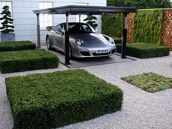 Modny garaż to przede wszystkim prosty projekt i nowoczesne materiały.