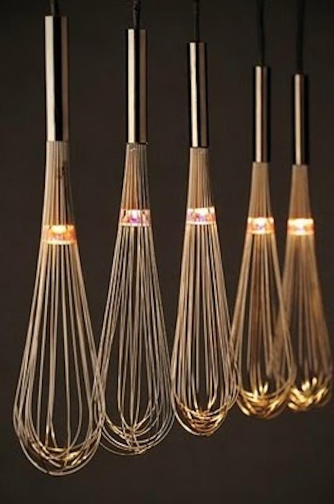 Keukenlamp Design : Oryginalne lampy z ? trzepaczki do jajek? Czemu nie ;] Trzeba
