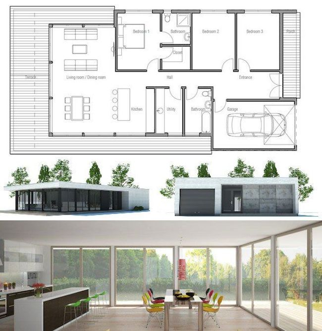 Condo Floor Plans besides Flat Roof Cottage Style House Design  bined With Modern Architecture 2227 likewise Relax In A Wooden Cottage House With A Beautiful Garden 13 moreover Revetement Exterieur De Cedre Rouge Photos likewise Garden Rooms. on small modern house plans