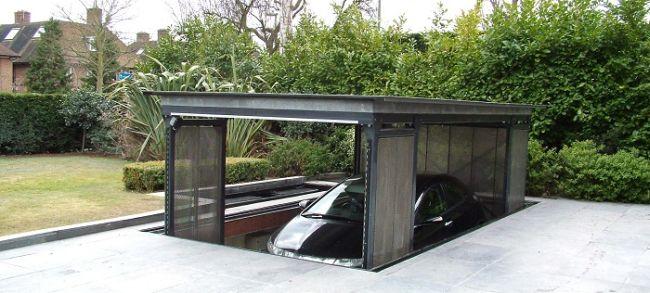 garaz nowoczesny podziemny hydrauliczny dla domow jednorodzinych dzialanie