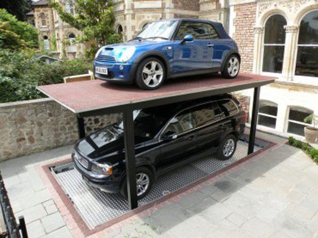 garaz nowoczesny podziemny hydrauliczny dla domow jednorodzinych