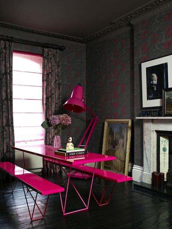 jak stosowac kolory we wnetrzu jaki kolor wybrac różowy  we wnętrzu inspiracje