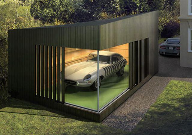nowoczesny garaz na samochod wolnostojacy zamiast blaszaka