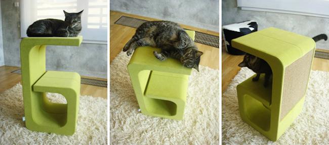 modne-designerskie-zabawki-dla-kota-w-modnym-wnetrzu-kocie-meble-