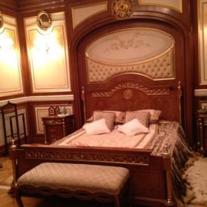 Sypialnia w willi Janukowicza