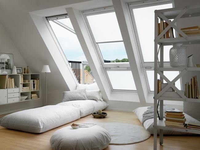 Okna dachowe - zastosowanie modne wnetrze