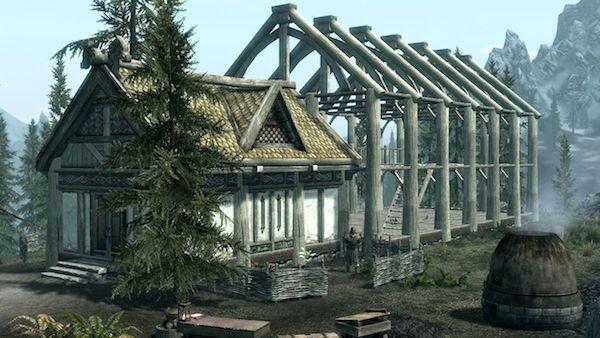 Skyrim-domek-drewniany