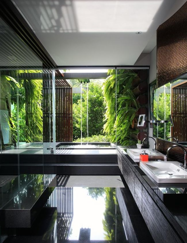 funkcja Złote rybki spa w domu piękna nowoczesna łazienka 01