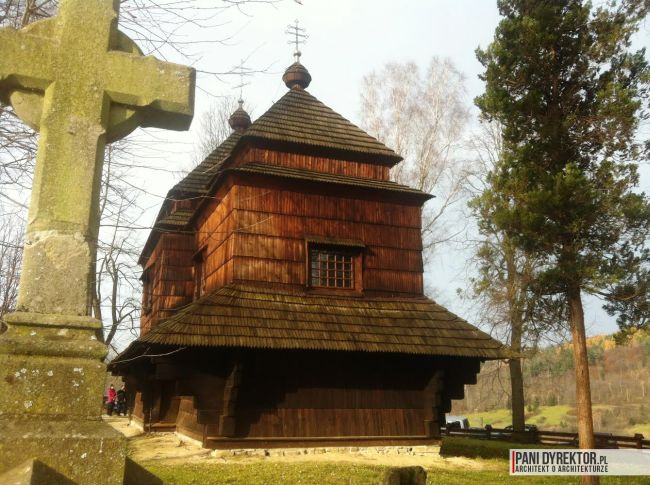 cerkiew w smolniku cerkiew drewniana kryta gontem zabytki polskie blog architektoniczny smolnik 11 copy