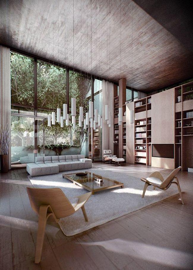 nowoczesny-salon-sufit-katdralny-poniesiony-przestrzen-pustka-nad-salonem-7