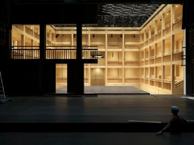 Teatr szekspirowski (elżbietański) - trochę historii-projekt i realizacja w Gdańsku08
