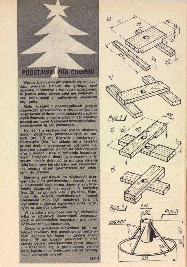 DIY-MŁODY TECHNIK-Zrób to sam sprzed 40 lat-Noga do choinki- Ep20z20