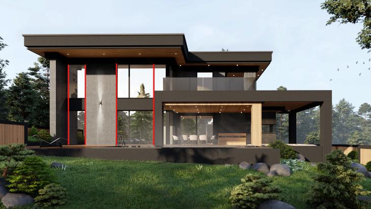 układ okien -  projekt powinien być od razu bryłą