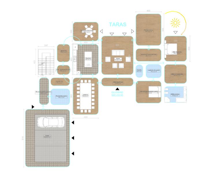 schemat pomieszczeń