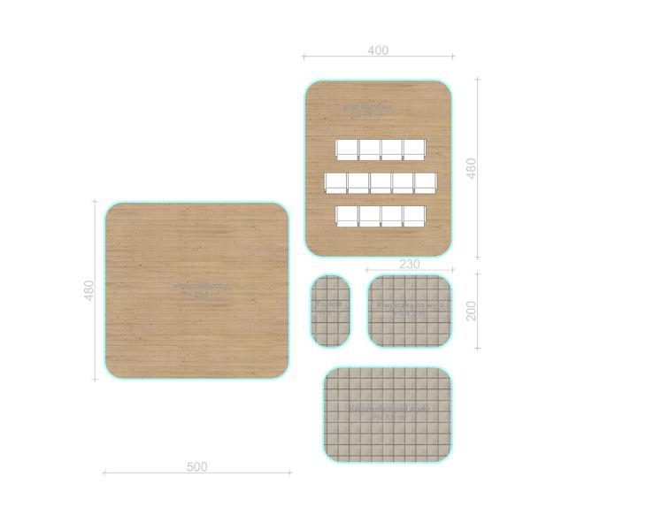 schemat pomieszczeń przykład